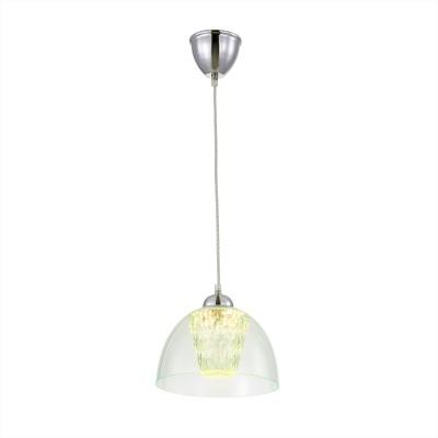 Citilux Топаз CL717113 Светильник подвеснойОдиночные<br><br><br>Цветовая t, К: 3000K<br>Тип лампы: LED-светодиодная<br>Тип цоколя: LED<br>MAX мощность ламп, Вт: 12<br>Диаметр, мм мм: 230<br>Высота, мм: 400 - 1200