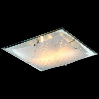 Светильник Maytoni CL801-03-N Modern 5Квадратные<br>Гнутая форма стеклянного плафона придает настенно-потолочному светильнику незабываемый дизайн. Изображенный на фото источник света способен осветить около девяти квадратных метров помещения, благодаря трем лампам, которые не вошли в комплект поставки. Настенно-потолочный светильник Maytoni Geometry CL801-03-N имеет металлическое основание с хромовым напылением и матовое стекло белого цвета. Несмотря на небольшую стоимость, компания Maytoni гарантирует, что это изделие прослужит вам долгое время. Купить этот светильник немецкой фирмы Майтони вы можете у нас по низкой цене.<br><br>S освещ. до, м2: 12<br>Тип лампы: накаливания / энергосбережения / LED-светодиодная<br>Тип цоколя: E27<br>Цвет арматуры: серебристый<br>Количество ламп: 3<br>Ширина, мм: 400<br>Длина, мм: 400<br>Высота, мм: 90<br>MAX мощность ламп, Вт: 60