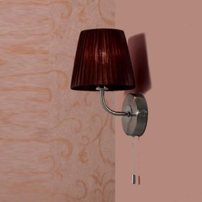 Citilux Шоколадный CL913312 Светильник настенный браКлассические<br><br><br>S освещ. до, м2: 2<br>Тип лампы: накаливания / энергосбережения / LED-светодиодная<br>Тип цоколя: E14<br>Количество ламп: 1<br>Ширина, мм: 160<br>MAX мощность ламп, Вт: 40<br>Размеры: Высота 28см, Ширина16см, Глубина 18см, с Выключателем<br>Расстояние от стены, мм: 180<br>Высота, мм: 280<br>Поверхность арматуры: глянцевый<br>Цвет арматуры: серебристый