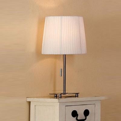 Citilux Кремовый CL913811 Настольная лампаС абажуром<br><br><br>S освещ. до, м2: 5<br>Тип товара: Настольная лампа<br>Тип лампы: накал-я - энергосбер-я<br>Тип цоколя: E27<br>Количество ламп: 1<br>MAX мощность ламп, Вт: 75<br>Диаметр, мм мм: 250<br>Размеры: Диаметр 25см, Высота 43см<br>Высота, мм: 430<br>Поверхность арматуры: глянцевый<br>Цвет арматуры: серый