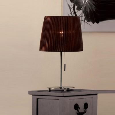 Citilux Шоколадный CL913812 Настольная лампаС абажуром<br>Настольная лампа – это не просто источник дополнительного освещения, но и оригинальный элемент декора. Его можно установить в спальне, гостиной, кабинете и других комнатах. Интернет-магазин «Светодом» предлагает настольные лампы разных стилей по доступным ценам. Благодаря большому ассортименту Вы обязательно найдете в нашем каталоге именно ту модель, которую искали.   Настольная лампа Citilux CL913812 – прекрасный вариант для завершения интерьера. Ее можно включить одновременно с люстрой для более яркого освещения или без нее для создания уютной атмосферы, настраивающей на отдых.   Купить настольную лампу Citilux CL913812 Вы можете с помощью виртуальной «Корзины» или по контактным номерам, указанным на сайте.<br><br>S освещ. до, м2: 5<br>Тип лампы: накал-я - энергосбер-я<br>Тип цоколя: E27<br>Количество ламп: 1<br>MAX мощность ламп, Вт: 75<br>Диаметр, мм мм: 250<br>Размеры: Диаметр 25см, Высота 43см<br>Высота, мм: 430<br>Поверхность арматуры: глянцевый<br>Цвет арматуры: серебристый