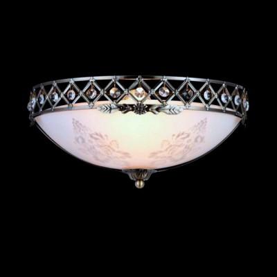Светильник Maytoni CL914-01-RКлассические<br><br><br>Установка на натяжной потолок: Ограничено<br>S освещ. до, м2: 1<br>Крепление: Планка<br>Тип лампы: Накаливания / энергосбережения / светодиодная<br>Тип цоколя: E27<br>Цвет арматуры: бронзовый<br>Количество ламп: 1<br>Диаметр, мм мм: 335<br>Высота, мм: 154<br>MAX мощность ламп, Вт: 60