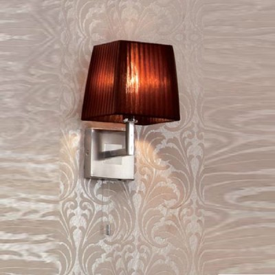 Citilux Шоколадный CL914312 Светильник настенный браКлассические<br><br><br>S освещ. до, м2: 2<br>Тип лампы: накаливания / энергосбережения / LED-светодиодная<br>Тип цоколя: E14<br>Количество ламп: 1<br>Ширина, мм: 160<br>MAX мощность ламп, Вт: 40<br>Размеры: Высота 28см, Ширина16см, Глубина 18см, с Выключателем<br>Расстояние от стены, мм: 180<br>Высота, мм: 280<br>Поверхность арматуры: глянцевый<br>Цвет арматуры: серебристый