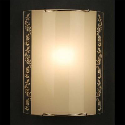 Citilux Узор CL921024 Светильник настенный браНакладные<br><br><br>S освещ. до, м2: 6<br>Крепление: планка<br>Тип лампы: накаливания / энергосбережения / LED-светодиодная<br>Тип цоколя: E27<br>Количество ламп: 1<br>Ширина, мм: 200<br>MAX мощность ламп, Вт: 100<br>Размеры: Стеклянный рассеиватель, Высота 25см, Ширина 20см, Глубина 9см.<br>Расстояние от стены, мм: 90<br>Высота, мм: 250<br>Поверхность арматуры: глянцевый<br>Цвет арматуры: серебристый