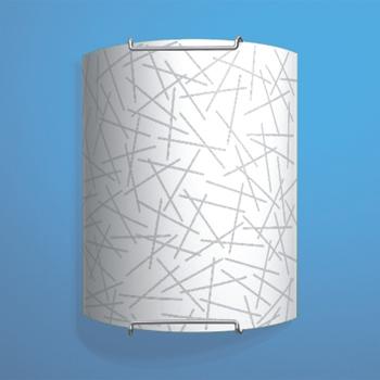 Citilux Крона CL921061 Светильник настенный браНакладные<br><br><br>S освещ. до, м2: 6<br>Тип лампы: накаливания / энергосбережения / LED-светодиодная<br>Тип цоколя: E27<br>Количество ламп: 1<br>Ширина, мм: 200<br>MAX мощность ламп, Вт: 100<br>Размеры: Стеклянный рассеиватель, Высота 25см, Ширина 20см, Глубина 9см.<br>Расстояние от стены, мм: 90<br>Высота, мм: 250<br>Поверхность арматуры: глянцевый<br>Цвет арматуры: серебристый