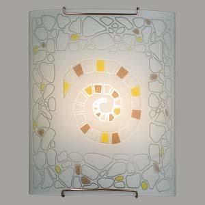 Citilux Улитка CL921111W Светильник настенный браНакладные<br><br><br>S освещ. до, м2: 6<br>Тип лампы: накаливания / энергосбережения / LED-светодиодная<br>Тип цоколя: E27<br>Количество ламп: 1<br>Ширина, мм: 200<br>MAX мощность ламп, Вт: 100<br>Размеры: Стеклянный рассеиватель, Высота 25см, Ширина 20см, Глубина 9см.<br>Расстояние от стены, мм: 90<br>Высота, мм: 250<br>Поверхность арматуры: глянцевый<br>Цвет арматуры: серебристый