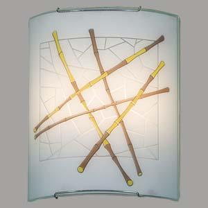 Citilux Бамбук CL922011 Светильник настенный браНакладные<br><br><br>S освещ. до, м2: 13<br>Тип лампы: накаливания / энергосбережения / LED-светодиодная<br>Тип цоколя: E27<br>Количество ламп: 2<br>Ширина, мм: 240<br>MAX мощность ламп, Вт: 100<br>Размеры: Стеклянный рассеиватель, Высота 30см, Ширина 24см, Глубина 11см.<br>Расстояние от стены, мм: 110<br>Высота, мм: 300<br>Поверхность арматуры: глянцевый<br>Цвет арматуры: серебристый