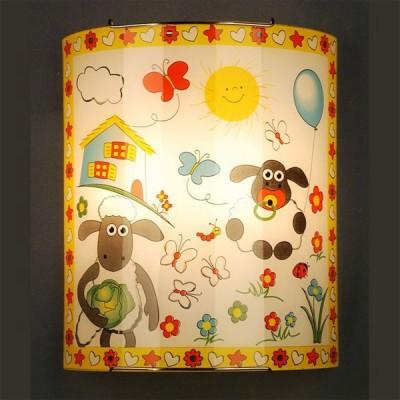 Citilux Барашки CL922016 Светильник настенный браДля детской<br><br><br>S освещ. до, м2: 13<br>Крепление: планка<br>Тип лампы: накаливания / энергосбережения / LED-светодиодная<br>Тип цоколя: E27<br>Количество ламп: 2<br>Ширина, мм: 240<br>MAX мощность ламп, Вт: 100<br>Размеры: Стеклянный рассеиватель, Высота 30см, Ширина 24см, Глубина 11см.<br>Расстояние от стены, мм: 110<br>Высота, мм: 300<br>Поверхность арматуры: глянцевый<br>Цвет арматуры: серебристый