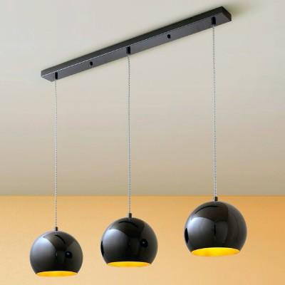 Citilux Оми CL945132 ЛюстраТройные<br><br><br>Тип товара: Люстра<br>Тип лампы: Накаливания / энергосбережения / светодиодная<br>Тип цоколя: E27<br>Количество ламп: 3<br>Ширина, мм: 60<br>MAX мощность ламп, Вт: 75<br>Размеры: Основание 78х6см, Высота 30-120см<br>Длина, мм: 780<br>Высота, мм: 750<br>Цвет арматуры: черный