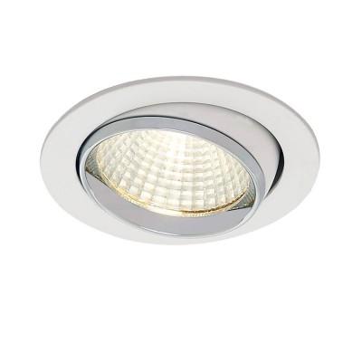 CLD002W1Круглые<br><br><br>Цветовая t, К: 3000<br>Тип лампы: LED<br>Тип цоколя: LED<br>MAX мощность ламп, Вт: 7<br>Диаметр, мм мм: 85<br>Диаметр врезного отверстия, мм: 75<br>Высота, мм: 10