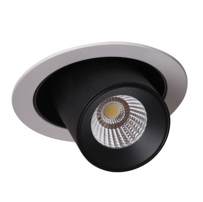 Светильник встроенный CLT 011C WH-BL (1400/122) Crystal luxОжидается<br><br><br>Цветовая t, К: 4000K<br>Тип цоколя: LED<br>Цвет арматуры: Белый/Черный<br>Количество ламп: 1<br>Диаметр, мм мм: 130<br>Высота полная, мм: 151<br>Длина цепи/провода, мм: 151<br>Высота, мм: 151<br>Поверхность арматуры: Краска<br>MAX мощность ламп, Вт: 10