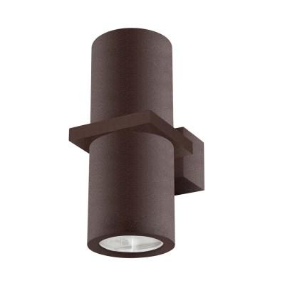Светильник настенный бра Crystal lux CLT 021W BR 1400/403Хай-тек<br><br><br>Тип цоколя: GU10<br>Цвет арматуры: Коричневый<br>Количество ламп: 2<br>Ширина, мм: 100<br>Длина, мм: 65<br>Высота, мм: 154<br>MAX мощность ламп, Вт: 35