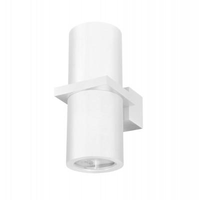 Светильник настенный бра Crystal lux CLT 021W WH 1400/404Хай-тек<br><br><br>Тип цоколя: GU10<br>Количество ламп: 2<br>Ширина, мм: 100<br>MAX мощность ламп, Вт: 35<br>Длина, мм: 65<br>Высота, мм: 154<br>Цвет арматуры: Белый