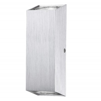 Светильник настенный бра Crystal lux CLT 222W AL 1400/406Бра хай тек стиля<br><br><br>Тип цоколя: GU5.3<br>Цвет арматуры: Серебристый алюминий<br>Количество ламп: 2<br>Ширина, мм: 60<br>Длина, мм: 60<br>Высота, мм: 180<br>MAX мощность ламп, Вт: 50