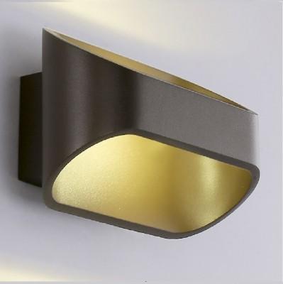 Светильник настенный бра Crystal lux CLT 510W BR 1400/424современные бра модерн<br><br><br>Цветовая t, К: 4000K<br>Тип цоколя: LED<br>Цвет арматуры: Коричневый<br>Количество ламп: 1<br>Ширина, мм: 91<br>Длина, мм: 160<br>Высота, мм: 100<br>MAX мощность ламп, Вт: 6