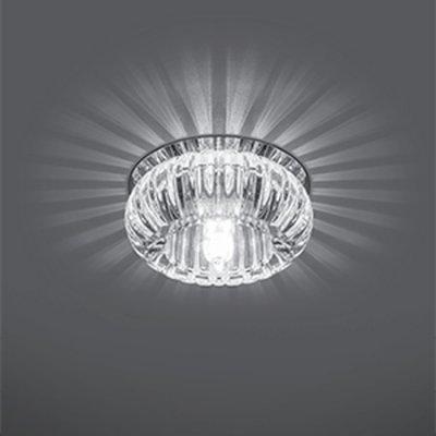 Светильник Gauss Crystal CR010, G9Декоративные точечные светильники<br>Встраиваемые светильники – популярное осветительное оборудование, которое можно использовать в качестве основного источника или в дополнение к люстре. Они позволяют создать нужную атмосферу атмосферу и привнести в интерьер уют и комфорт.   Интернет-магазин «Светодом» предлагает стильный встраиваемый светильник Gauss Crystal CR010. Данная модель достаточно универсальна, поэтому подойдет практически под любой интерьер. Перед покупкой не забудьте ознакомиться с техническими параметрами, чтобы узнать тип цоколя, площадь освещения и другие важные характеристики.   Приобрести встраиваемый светильник Gauss Crystal CR010 в нашем онлайн-магазине Вы можете либо с помощью «Корзины», либо по контактным номерам. Мы развозим заказы по Москве, Екатеринбургу и остальным российским городам.<br><br>S освещ. до, м2: 3<br>Тип лампы: галогенная<br>Тип цоколя: G9<br>Цвет арматуры: серебристый<br>Количество ламп: 1<br>Диаметр, мм мм: 80<br>Диаметр врезного отверстия, мм: 50<br>Высота, мм: 55<br>MAX мощность ламп, Вт: 50