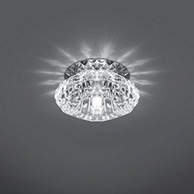 Светильник Gauss Crystal CR012, G9Декоративные<br>Встраиваемые светильники – популярное осветительное оборудование, которое можно использовать в качестве основного источника или в дополнение к люстре. Они позволяют создать нужную атмосферу атмосферу и привнести в интерьер уют и комфорт.   Интернет-магазин «Светодом» предлагает стильный встраиваемый светильник Gauss Crystal CR012. Данная модель достаточно универсальна, поэтому подойдет практически под любой интерьер. Перед покупкой не забудьте ознакомиться с техническими параметрами, чтобы узнать тип цоколя, площадь освещения и другие важные характеристики.   Приобрести встраиваемый светильник Gauss Crystal CR012 в нашем онлайн-магазине Вы можете либо с помощью «Корзины», либо по контактным номерам. Мы развозим заказы по Москве, Екатеринбургу и остальным российским городам.<br><br>S освещ. до, м2: 3<br>Тип лампы: галогенная<br>Тип цоколя: G9<br>Количество ламп: 1<br>MAX мощность ламп, Вт: 50<br>Диаметр, мм мм: 95<br>Диаметр врезного отверстия, мм: 50<br>Высота, мм: 60<br>Цвет арматуры: серебристый