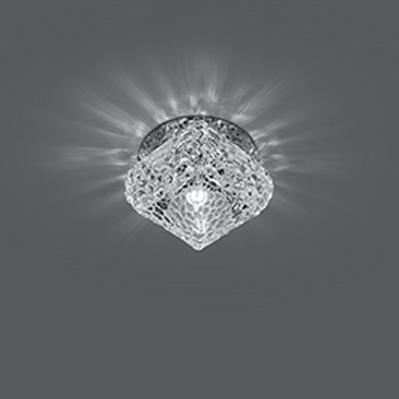 Светильник Gauss Crystal CR014, G9Декоративные<br>Встраиваемые светильники – популярное осветительное оборудование, которое можно использовать в качестве основного источника или в дополнение к люстре. Они позволяют создать нужную атмосферу атмосферу и привнести в интерьер уют и комфорт.   Интернет-магазин «Светодом» предлагает стильный встраиваемый светильник Gauss Crystal CR014. Данная модель достаточно универсальна, поэтому подойдет практически под любой интерьер. Перед покупкой не забудьте ознакомиться с техническими параметрами, чтобы узнать тип цоколя, площадь освещения и другие важные характеристики.   Приобрести встраиваемый светильник Gauss Crystal CR014 в нашем онлайн-магазине Вы можете либо с помощью «Корзины», либо по контактным номерам. Мы развозим заказы по Москве, Екатеринбургу и остальным российским городам.<br><br>S освещ. до, м2: 3<br>Тип лампы: галогенная<br>Тип цоколя: G9<br>Количество ламп: 1<br>Ширина, мм: 80<br>MAX мощность ламп, Вт: 50<br>Диаметр врезного отверстия, мм: 55<br>Длина, мм: 80<br>Высота, мм: 70<br>Цвет арматуры: серебристый