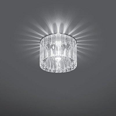 Светильник Gauss Crystal CR016 Кристал, G9Декоративные точечные светильники<br>Встраиваемые светильники – популярное осветительное оборудование, которое можно использовать в качестве основного источника или в дополнение к люстре. Они позволяют создать нужную атмосферу атмосферу и привнести в интерьер уют и комфорт.   Интернет-магазин «Светодом» предлагает стильный встраиваемый светильник Gauss Crystal CR016. Данная модель достаточно универсальна, поэтому подойдет практически под любой интерьер. Перед покупкой не забудьте ознакомиться с техническими параметрами, чтобы узнать тип цоколя, площадь освещения и другие важные характеристики.   Приобрести встраиваемый светильник Gauss Crystal CR016 в нашем онлайн-магазине Вы можете либо с помощью «Корзины», либо по контактным номерам. Мы развозим заказы по Москве, Екатеринбургу и остальным российским городам.<br><br>S освещ. до, м2: 3<br>Тип лампы: галогенная<br>Тип цоколя: G9<br>Цвет арматуры: серебристый<br>Количество ламп: 1<br>Диаметр, мм мм: 80<br>Диаметр врезного отверстия, мм: 55<br>Высота, мм: 70<br>MAX мощность ламп, Вт: 50