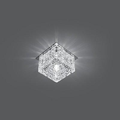 Светильник Gauss Crystal CR024, G9Декоративные<br>Встраиваемые светильники – популярное осветительное оборудование, которое можно использовать в качестве основного источника или в дополнение к люстре. Они позволяют создать нужную атмосферу атмосферу и привнести в интерьер уют и комфорт.   Интернет-магазин «Светодом» предлагает стильный встраиваемый светильник Gauss Crystal CR024. Данная модель достаточно универсальна, поэтому подойдет практически под любой интерьер. Перед покупкой не забудьте ознакомиться с техническими параметрами, чтобы узнать тип цоколя, площадь освещения и другие важные характеристики.   Приобрести встраиваемый светильник Gauss Crystal CR024 в нашем онлайн-магазине Вы можете либо с помощью «Корзины», либо по контактным номерам. Мы развозим заказы по Москве, Екатеринбургу и остальным российским городам.<br><br>S освещ. до, м2: 3<br>Тип лампы: галогенная<br>Тип цоколя: G9<br>Цвет арматуры: серебристый<br>Количество ламп: 1<br>Ширина, мм: 80<br>Диаметр врезного отверстия, мм: 50<br>Длина, мм: 80<br>Высота, мм: 70<br>MAX мощность ламп, Вт: 50