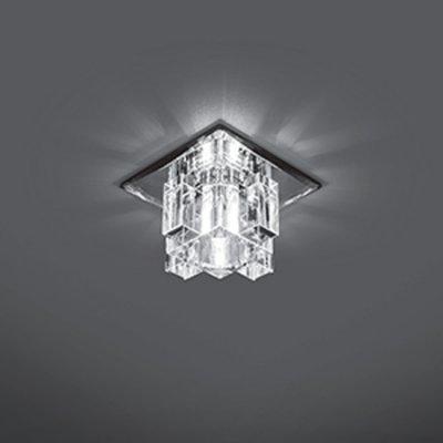 Светильник Gauss Crystal CR027, G9Декоративные<br>Встраиваемые светильники – популярное осветительное оборудование, которое можно использовать в качестве основного источника или в дополнение к люстре. Они позволяют создать нужную атмосферу атмосферу и привнести в интерьер уют и комфорт.   Интернет-магазин «Светодом» предлагает стильный встраиваемый светильник Gauss Crystal CR027. Данная модель достаточно универсальна, поэтому подойдет практически под любой интерьер. Перед покупкой не забудьте ознакомиться с техническими параметрами, чтобы узнать тип цоколя, площадь освещения и другие важные характеристики.   Приобрести встраиваемый светильник Gauss Crystal CR027 в нашем онлайн-магазине Вы можете либо с помощью «Корзины», либо по контактным номерам. Мы развозим заказы по Москве, Екатеринбургу и остальным российским городам.<br><br>S освещ. до, м2: 3<br>Тип лампы: галогенная<br>Тип цоколя: G9<br>Количество ламп: 1<br>Ширина, мм: 95<br>MAX мощность ламп, Вт: 50<br>Диаметр врезного отверстия, мм: 50<br>Длина, мм: 95<br>Высота, мм: 70