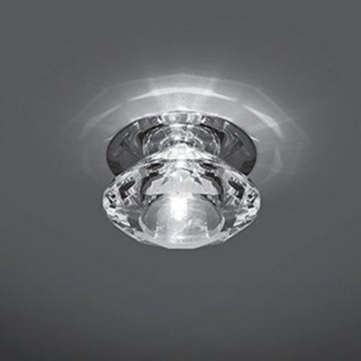 Светильник Gauss Crystal CR035, G4Хрустальные<br>Встраиваемые светильники – популярное осветительное оборудование, которое можно использовать в качестве основного источника или в дополнение к люстре. Они позволяют создать нужную атмосферу атмосферу и привнести в интерьер уют и комфорт.   Интернет-магазин «Светодом» предлагает стильный встраиваемый светильник Gauss Crystal CR035. Данная модель достаточно универсальна, поэтому подойдет практически под любой интерьер. Перед покупкой не забудьте ознакомиться с техническими параметрами, чтобы узнать тип цоколя, площадь освещения и другие важные характеристики.   Приобрести встраиваемый светильник Gauss Crystal CR035 в нашем онлайн-магазине Вы можете либо с помощью «Корзины», либо по контактным номерам. Мы развозим заказы по Москве, Екатеринбургу и остальным российским городам.<br><br>S освещ. до, м2: 3<br>Тип лампы: галогенная<br>Тип цоколя: G4<br>Количество ламп: 1<br>MAX мощность ламп, Вт: 50<br>Диаметр, мм мм: 80<br>Диаметр врезного отверстия, мм: 50<br>Высота, мм: 55<br>Цвет арматуры: серебристый