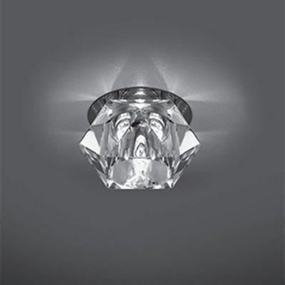 Светильник Gauss Crystal CR040 Кристал, G9Хрустальные<br>Встраиваемые светильники – популярное осветительное оборудование, которое можно использовать в качестве основного источника или в дополнение к люстре. Они позволяют создать нужную атмосферу атмосферу и привнести в интерьер уют и комфорт.   Интернет-магазин «Светодом» предлагает стильный встраиваемый светильник Gauss Crystal CR040. Данная модель достаточно универсальна, поэтому подойдет практически под любой интерьер. Перед покупкой не забудьте ознакомиться с техническими параметрами, чтобы узнать тип цоколя, площадь освещения и другие важные характеристики.   Приобрести встраиваемый светильник Gauss Crystal CR040 в нашем онлайн-магазине Вы можете либо с помощью «Корзины», либо по контактным номерам. Мы развозим заказы по Москве, Екатеринбургу и остальным российским городам.<br><br>S освещ. до, м2: 3<br>Тип лампы: галогенная<br>Тип цоколя: G9<br>Количество ламп: 1<br>MAX мощность ламп, Вт: 50<br>Диаметр, мм мм: 80<br>Диаметр врезного отверстия, мм: 60<br>Высота, мм: 70<br>Цвет арматуры: серебристый