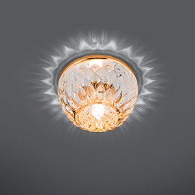 Светильник Gauss Crystal CR058 Кристал/Золото, G9Хрустальные<br>Встраиваемые светильники – популярное осветительное оборудование, которое можно использовать в качестве основного источника или в дополнение к люстре. Они позволяют создать нужную атмосферу атмосферу и привнести в интерьер уют и комфорт.   Интернет-магазин «Светодом» предлагает стильный встраиваемый светильник Gauss Crystal CR058. Данная модель достаточно универсальна, поэтому подойдет практически под любой интерьер. Перед покупкой не забудьте ознакомиться с техническими параметрами, чтобы узнать тип цоколя, площадь освещения и другие важные характеристики.   Приобрести встраиваемый светильник Gauss Crystal CR058 в нашем онлайн-магазине Вы можете либо с помощью «Корзины», либо по контактным номерам. Мы развозим заказы по Москве, Екатеринбургу и остальным российским городам.<br><br>S освещ. до, м2: 3<br>Тип лампы: галогенная<br>Тип цоколя: G9<br>Количество ламп: 1<br>MAX мощность ламп, Вт: 50<br>Диаметр, мм мм: 90<br>Диаметр врезного отверстия, мм: 65<br>Высота, мм: 62<br>Цвет арматуры: Золотой