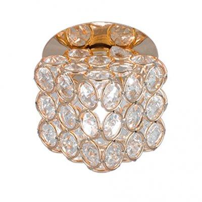 Светильник Gauss Brilliance CR063 Куб Кристалл/Золото, G9Хрустальные<br><br><br>S освещ. до, м2: 3<br>Тип товара: светильник встраиваемый<br>Скидка, %: 25<br>Тип лампы: галогенная<br>Тип цоколя: G9<br>Количество ламп: 1<br>Ширина, мм: 95<br>MAX мощность ламп, Вт: 50<br>Диаметр врезного отверстия, мм: 65<br>Длина, мм: 95<br>Высота, мм: 115<br>Цвет арматуры: Золотой