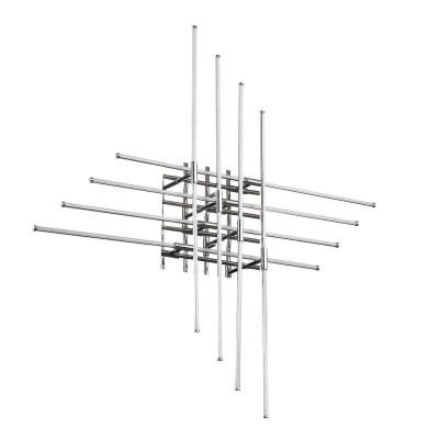 Ideal Lux CROSS PL480 Потолочный светильникДекоративные<br><br><br>S освещ. до, м2: 16<br>Тип лампы: LED<br>Тип цоколя: LED<br>Количество ламп: 8<br>Ширина, мм: 900<br>Глубина, мм: 130<br>Высота, мм: 900<br>MAX мощность ламп, Вт: 4.8
