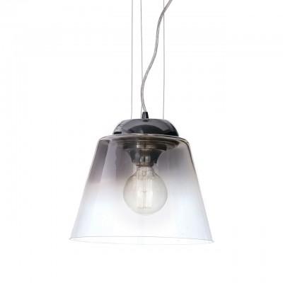 Ideal Lux CYLINDER SP1 D30 CROMO SFUMATO Светильник подвеснойодиночные подвесные светильники<br><br><br>S освещ. до, м2: 3<br>Тип лампы: Накаливания / энергосбережения / светодиодная<br>Тип цоколя: E27<br>Количество ламп: 1<br>Диаметр, мм мм: 300<br>Высота, мм: 300 - 1250<br>MAX мощность ламп, Вт: 60