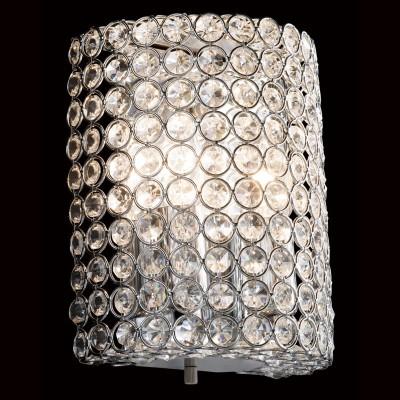 Citilux Арена CL319321 Светильник настенный браХрустальные<br><br><br>S освещ. до, м2: 8<br>Тип лампы: накаливания / энергосбережения / LED-светодиодная<br>Тип цоколя: E14<br>Количество ламп: 2<br>Ширина, мм: 160<br>MAX мощность ламп, Вт: 60<br>Размеры: Высота 20см, Ширина 16см, Глубина 10см<br>Длина, мм: 100<br>Высота, мм: 200<br>Поверхность арматуры: глянцевый<br>Оттенок (цвет): прозрачный, хром<br>Цвет арматуры: серебристый хром