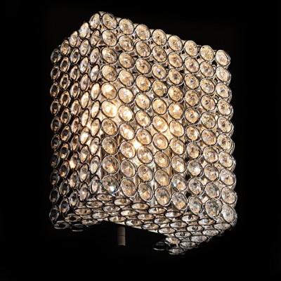 Citilux Арена CL319421 Светильник настенный браХрустальные<br><br><br>S освещ. до, м2: 8<br>Тип лампы: накаливания / энергосбережения / LED-светодиодная<br>Тип цоколя: E14<br>Количество ламп: 2<br>Ширина, мм: 160<br>MAX мощность ламп, Вт: 60<br>Размеры: Высота 20см, Ширина 16см, Глубина 10см<br>Длина, мм: 100<br>Высота, мм: 200<br>Поверхность арматуры: глянцевый<br>Оттенок (цвет): прозрачный, хром<br>Цвет арматуры: серебристый хром