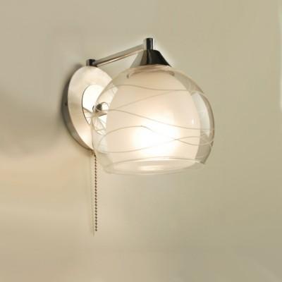 Citilux Буги CL157311 Светильник настенный браМодерн<br><br><br>S освещ. до, м2: 5<br>Тип лампы: накаливания / энергосбережения / LED-светодиодная<br>Тип цоколя: E27<br>Количество ламп: 1<br>Ширина, мм: 150<br>MAX мощность ламп, Вт: 75<br>Размеры: Высота 16 см. Ширина 14,5 см. Глубина 17,5 см.<br>Длина, мм: 180<br>Высота, мм: 160<br>Оттенок (цвет): белый<br>Цвет арматуры: серебристый