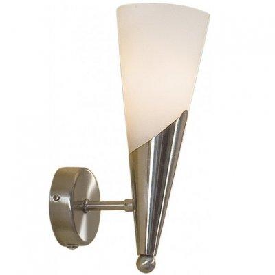 Citilux Фокус CL103311 Светильник настенный браМодерн<br>Бра CL103311 Citilux - Дания из коллекции Фокус - отличная возможность украсить абсолютно любое пространство или помещение. Хотите купить бра? Смотрите соответсвующий раздел магазина.<br><br>S освещ. до, м2: 4<br>Тип лампы: накаливания / энергосбережения / LED-светодиодная<br>Тип цоколя: E14<br>Количество ламп: 1<br>Ширина, мм: 100<br>MAX мощность ламп, Вт: 60<br>Размеры: Матовое молочнобелое стекло, Высота 27см, Ширина 10см, Глубина 16см.<br>Расстояние от стены, мм: 160<br>Высота, мм: 270<br>Поверхность арматуры: матовый<br>Цвет арматуры: серебристый