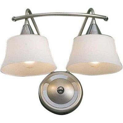 Citilux Стелла CL110321 Светильник настенный браКлассические<br>Бра CL110321 Ситилюкс - Дания из серии Стелла - отличная возможность украсить любое помещение или пространство. Хотите купить бра? Смотрите соответсвующий каталог сайта.<br><br>S освещ. до, м2: 8<br>Тип лампы: накаливания / энергосбережения / LED-светодиодная<br>Тип цоколя: E14<br>Количество ламп: 2<br>Ширина, мм: 300<br>MAX мощность ламп, Вт: 60<br>Размеры: Матовое молочнобелое стекло, Высота 25см, Ширина 30см, Глубина 17см.<br>Расстояние от стены, мм: 170<br>Высота, мм: 250<br>Поверхность арматуры: матовый<br>Цвет арматуры: серебристый