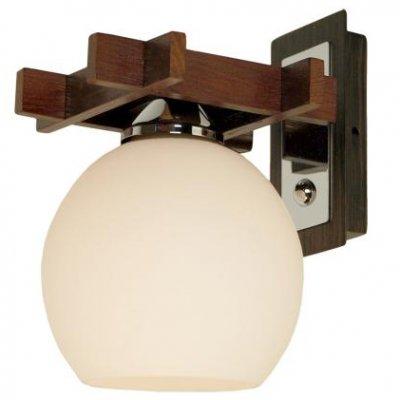 Citilux Нарита CL114311 Светильник настенный браРустика<br>Настенный светильник Citilux CL114311 Нарита выглядит эффектно, и всегда будет привлекать к себе взгляды! «Строгая» конструкция крепления и арматуры, выполненная из массива дуба, «смягчена» за счет круглой формы плафона «нежного» белого оттенка, что в совокупности рождает неповторимый образ, наполненный шармом и очарованием. Наиболее выигрышно светильник будет смотреться в интерьере в стиле «рустика» или «восточный». Рекомендуем Вам использовать бра в комплекте из нескольких экземпляров и люстрой из этой же серии, чтобы комната выглядела «законченной» и совершенной, как будто над ней поработал профессиональный дизайнер.<br><br>S освещ. до, м2: 6<br>Тип лампы: накаливания / энергосбережения / LED-светодиодная<br>Тип цоколя: E27<br>Количество ламп: 1<br>Ширина, мм: 160<br>MAX мощность ламп, Вт: 100<br>Размеры: Глубина 19см, Ширина 16см, Высота  19см, деревянные части - массив дуба.<br>Расстояние от стены, мм: 190<br>Высота, мм: 190<br>Поверхность арматуры: матовый<br>Цвет арматуры: серебристый хром, венге