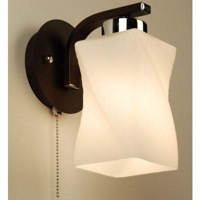 Citilux Берта CL126311 Светильник настенный браМодерн<br><br><br>S освещ. до, м2: 5<br>Тип товара: Светильник настенный бра<br>Тип лампы: накаливания / энергосбережения / LED-светодиодная<br>Тип цоколя: E27<br>Количество ламп: 1<br>Ширина, мм: 180<br>MAX мощность ламп, Вт: 75<br>Размеры: Глубина 17 см. Ширина 18 см. Высота 20 см. Диаметр основания 10 см.<br>Расстояние от стены, мм: 170<br>Высота, мм: 200<br>Поверхность арматуры: матовый<br>Цвет арматуры: венге