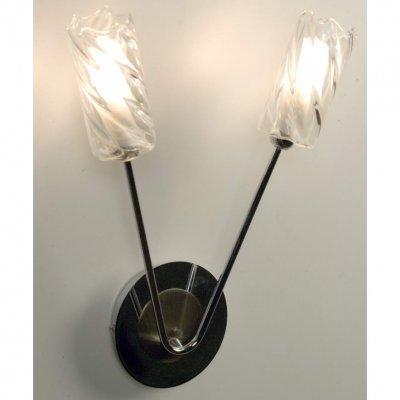 Citilux Атланта CL214321 Светильник настенный браМодерн<br><br><br>S освещ. до, м2: 8<br>Тип товара: Светильник настенный бра<br>Скидка, %: 35<br>Тип лампы: галогенная / LED-светодиодная<br>Тип цоколя: G9<br>Количество ламп: 2<br>Ширина, мм: 280<br>MAX мощность ламп, Вт: 60<br>Расстояние от стены, мм: 110<br>Высота, мм: 350<br>Поверхность арматуры: глянцевый<br>Цвет арматуры: серый