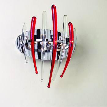 Citilux Арго CL252331 Светильник настенный браМодерн<br><br><br>S освещ. до, м2: 4<br>Тип лампы: галогенная / LED-светодиодная<br>Тип цоколя: G4<br>Количество ламп: 3<br>Ширина, мм: 240<br>MAX мощность ламп, Вт: 20<br>Расстояние от стены, мм: 150<br>Высота, мм: 300<br>Поверхность арматуры: глянцевый<br>Оттенок (цвет): Хром/Красный<br>Цвет арматуры: серебристый хром