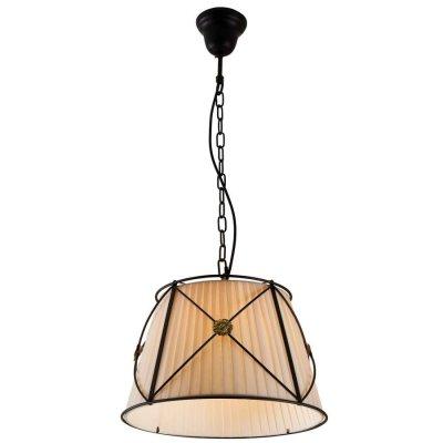Citilux Дрезден CL409111 Люстра подвеснаяПодвесные<br>Сложно пройти равнодушно мимо светильника Citilux CL409111 Дрезден! Его завораживающая красота и оригинальный образ  покоряют с первого взгляда. Трапециевидный плафон из органзы бежевого оттенка «облачен» в черный металлический каркас на подвесе - «цепи». Это сочетание сделало светильник одновременно «брутальным» и изящным, что идеально подходит к интерьеру в стиле «рустика». В цветовой палитре комнаты рекомендуем использовать аналогичные тона в качестве основных и не более трех контрастных в виде небольших аксессуаров – картин, сувениров, настенных или напольных часов и т.п. Чтобы интерьер выглядел «цельным» и уютным, добавьте в него комплект настенных бра из этой же серии.<br><br>Установка на натяжной потолок: Да<br>S освещ. до, м2: 6<br>Крепление: Крюк<br>Тип лампы: накаливания / энергосбережения / LED-светодиодная<br>Тип цоколя: E27<br>Количество ламп: 1<br>MAX мощность ламп, Вт: 100<br>Диаметр, мм мм: 400<br>Размеры: Диаметр 40см, Высота 50-135см<br>Высота, мм: 1350<br>Поверхность арматуры: матовый<br>Оттенок (цвет): бежевый<br>Цвет арматуры: черный