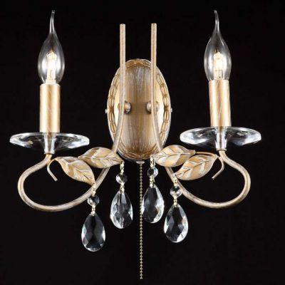 Citilux Честер CL418321 Светильник настенный браХрустальные<br><br><br>S освещ. до, м2: 8<br>Крепление: настенное<br>Тип лампы: накаливания / энергосбережения / LED-светодиодная<br>Тип цоколя: E14<br>Количество ламп: 2<br>Ширина, мм: 290<br>MAX мощность ламп, Вт: 60<br>Размеры: Высота 26см, Ширина 29см, Глубина 12см, с хрусталем, с выключателем<br>Расстояние от стены, мм: 120<br>Высота, мм: 260<br>Поверхность арматуры: глянцевый<br>Оттенок (цвет): белый<br>Цвет арматуры: бронзовый