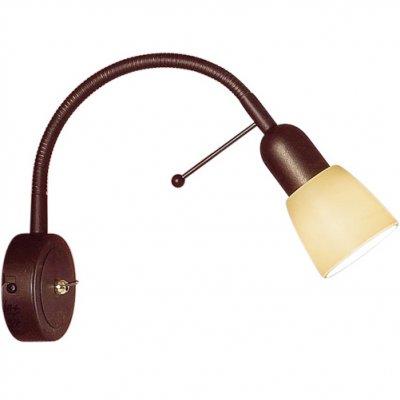 Citilux Ронда CL506314 Светильник настенный браГибкие<br>Также рекомендуем посмотреть другие споты и трек-системы из серии Ронда. Спот CL506314 Ситилюкс - Дания из серии Ронда - хорошая возможность украсить абсолютно любое пространство или помещение.<br><br>S освещ. до, м2: 4<br>Тип лампы: накаливания / энергосбережения / LED-светодиодная<br>Тип цоколя: E14<br>Цвет арматуры: коричневый<br>Количество ламп: 1<br>Ширина, мм: 85<br>Размеры: Стекло цвета Шампань, С выключателем, Размер головки 15см.<br>Расстояние от стены, мм: 200<br>Поверхность арматуры: матовый<br>MAX мощность ламп, Вт: 60