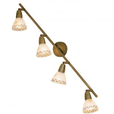 Citilux Афина CL507543 Светильник поворотный спотС 4 лампами<br>Также рекомендуем посмотреть другие споты и трек-системы из серии Афина. Спот CL507543 Ситилюкс - Дания из коллекции Афина - идеальная возможность украсить абсолютно любое пространство.<br><br>S освещ. до, м2: 16<br>Тип лампы: накал-я - энергосбер-я<br>Тип цоколя: E14<br>Количество ламп: 4<br>Ширина, мм: 800<br>MAX мощность ламп, Вт: 60<br>Размеры: Ширина 80см, Глубина 15см, Размер головки 12см.<br>Расстояние от стены, мм: 150<br>Поверхность арматуры: матовый<br>Цвет арматуры: бронзовый