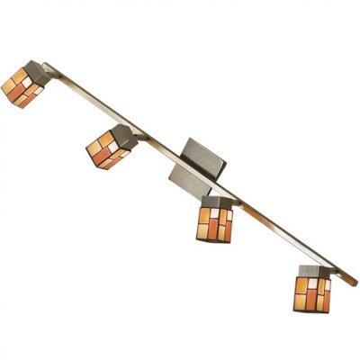 Citilux Латина CL514541 Светильник поворотный спотС 4 лампами<br>Также рекомендуем посмотреть другие споты и трек-системы из серии Латина. Спот CL514541 Citilux - Дания из коллекции Латина - хорошая возможность украсить абсолютно любое пространство.<br><br>S освещ. до, м2: 10<br>Тип лампы: галогенная / LED-светодиодная<br>Тип цоколя: G9<br>Количество ламп: 4<br>Ширина, мм: 850<br>MAX мощность ламп, Вт: 40<br>Размеры: Техника Тиффани, С выключателем, Ширина 85см, Глубина 15см, Размер головки 9см.<br>Расстояние от стены, мм: 150<br>Поверхность арматуры: матовый<br>Цвет арматуры: бронзовый