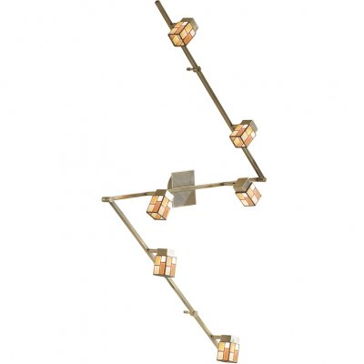 Citilux Латина CL514561 Светильник поворотный спотБолее 5 ламп<br>Также рекомендуем посмотреть другие споты и трек-системы из серии Латина. Спот CL514561 Ситилюкс - Дания из серии Латина - отличная возможность украсить абсолютно любое помещение или пространство.<br><br>S освещ. до, м2: 16<br>Тип лампы: галогенная / LED-светодиодная<br>Тип цоколя: G9<br>Количество ламп: 6<br>Ширина, мм: 3 * 600<br>MAX мощность ламп, Вт: 40<br>Размеры: Техника Тиффани, Ширина 3х60см, Глубина 16см, Размер головки 9см.<br>Расстояние от стены, мм: 160<br>Поверхность арматуры: матовый<br>Цвет арматуры: бронзовый