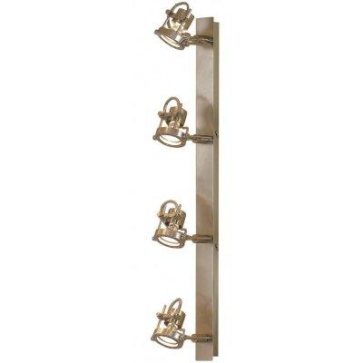 Citilux Терминатор CL515541 Светильник поворотный спотС 4 лампами<br>Также рекомендуем посмотреть другие споты и трек-системы из серии Терминатор. Спот CL515541 Ситилюкс - Дания из коллекции Терминатор - отличная возможность улучшить любое пространство или помещение.<br><br>S освещ. до, м2: 13<br>Тип лампы: галогенная / LED-светодиодная<br>Тип цоколя: GU10<br>Количество ламп: 4<br>Ширина, мм: 760<br>MAX мощность ламп, Вт: 50<br>Размеры: Высота 11см, Ширина 76 см, Глубина 18см, размер головки 9см<br>Расстояние от стены, мм: 180<br>Поверхность арматуры: матовый<br>Цвет арматуры: серебристый