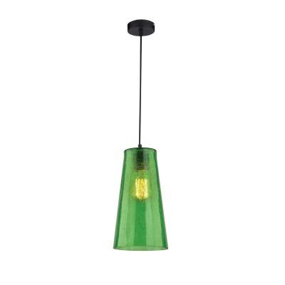 Светильник подвесной Iris Color  243/1-GreenОжидается<br><br><br>Крепление: Крепежная планка<br>Тип цоколя: E27<br>Цвет арматуры: Хром<br>Количество ламп: 1<br>Ширина, мм: 160<br>Длина, мм: 160<br>Высота, мм: 1000<br>Оттенок (цвет): Зеленый<br>MAX мощность ламп, Вт: 40