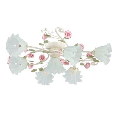 Люстра Colosseo 80942/7C RosariaПотолочные<br>Чудесная флористическая композиция представлена итальянскими дизайнерами на суд истинных ценителей непревзойдённой эстетики. Оцените по достоинству прекрасные преимущества потолочной люстры Colosseo 80942/7C! В итальянском творении идеально сочетаются грациозные переплетения конструкции и превосходно скроенные плафоны мягкой геометрии. Целых семь источников яркого сияния наполнят любое пространство чудесным свечением. Дизайнеры оригинально подошли к цветовому наполнению изделия: нотки розового перекликаются с нежно-зелёной тональностью и оттенком «слоновая кость». Компактные размеры потолочной люстры Colosseo 80942/7C позволят украсить ею интерьеры разных площадей. Каждый Ваш гость будет с восхищением наблюдать за истинным произведением дизайнерского искусства на домашних просторах.<br><br>Установка на натяжной потолок: Да<br>S освещ. до, м2: 18<br>Крепление: Планка<br>Тип лампы: накаливания / энергосбережения / LED-светодиодная<br>Тип цоколя: E14<br>Цвет арматуры: бежевый<br>Количество ламп: 7<br>Диаметр, мм мм: 830<br>Высота, мм: 230<br>MAX мощность ламп, Вт: 40