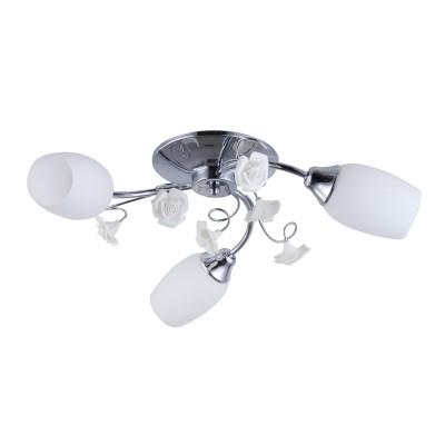 Светильник Colosseo 72163/3C OptimaПотолочные<br><br><br>Установка на натяжной потолок: Ограничено<br>S освещ. до, м2: 9<br>Крепление: Планка<br>Тип лампы: Накаливания / энергосбережения / светодиодная<br>Тип цоколя: E14<br>Цвет арматуры: хром серебристый<br>Количество ламп: 3<br>Диаметр, мм мм: 580<br>Высота, мм: 180<br>MAX мощность ламп, Вт: 60